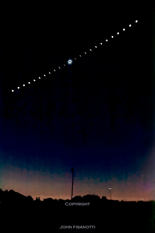 A composite sequence of the August 21, 2017 Eclipse from Rexburg, Idaho