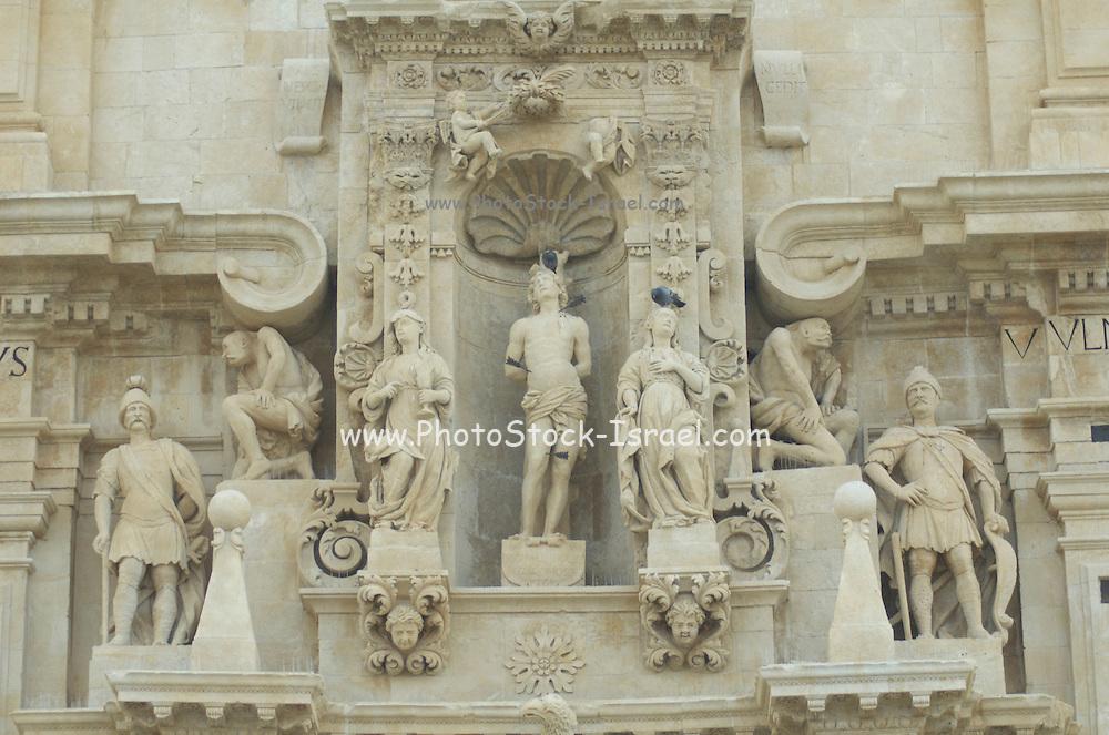 The Duomo of San Sebastiano at Ferla, Province of Siracusa, Sicily, Italy, July 2006