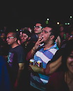 People enjoy the sounds of the Mazunte Jazz Festival in Oaxaca state, Mexico, on November 15, 2014.