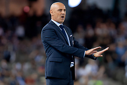 February 23, 2019 - Melbourne, VIC, U.S. - MELBOURNE, VIC - FEBRUARY 23: Melbourne Victory head coach Kevin Muscat gestures at round 20 of the Hyundai A-League Soccer between Melbourne City FC and Melbourne Victory on February 23, 2019 at Marvel Stadium, VIC. (Photo by Speed Media/Icon Sportswire) (Credit Image: © Speed Media/Icon SMI via ZUMA Press)
