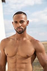 hot shirtless muscular black man