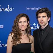NLD/Amsterdam/20180418 - Premiere De Matchmaker, Anna Drijver en partner Benja Bruining