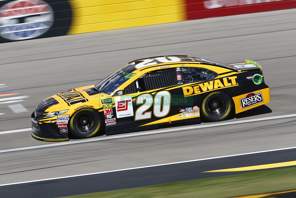 September 14, 2018 - Las Vegas, Nevada, United States of America - Erik Jones (20) brings his race car down the front stretch during practice for the South Point 400 at Las Vegas Motor Speedway in Las Vegas, Nevada. (Credit Image: © Chris Owens Asp Inc/ASP via ZUMA Wire)