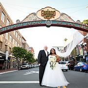 Mr and Mrs Black Wedding Horton Grand Hotel San Diego 2018