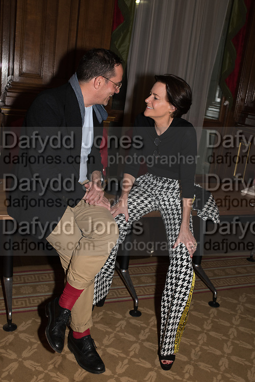 ALEXANDRE DA CUNHA; MARTINE D'ANGLEJAN CHATILLON, TenTen. The Government Art Collection/Outset Annual Award. Champagne reception to announce the inaugural artist Hurvin Anderson and unveil his 2018 print. Locarno Suite, Foreign and Commonwealth Office. SW1. 2 October 2018