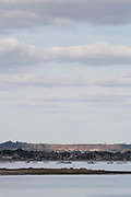 The village of Hamworthy / Lake on the shores of Poole Harbour from Arne, Dorset, UK