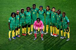 Cameroon Team Photo. (left to right) Gabrielle Onguene, Jeannette Yango, Claudine Falonne Meffometou, Raissa Feudjio, Marlyse Ngo Ndoumbouk, Yvonne Patrice Leuko, Aurelle Awona, Estelle Johnson, Njoya Ajara Nchout, Christine Patiance Manie and Anette Ngo (centre)