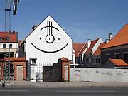 Lithuania, Kaunas decorated facade