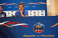FOOTBALL - UEFA EURO 2012 - DONETSK - UKRAINE - GROUP STAGE - GROUP D - FRANCE PRESS CONFERENCE - 12/06/2012 - PHOTO PHILIPPE LAURENSON / DPPI - LAURENT BLANC (FRENCH COACH)