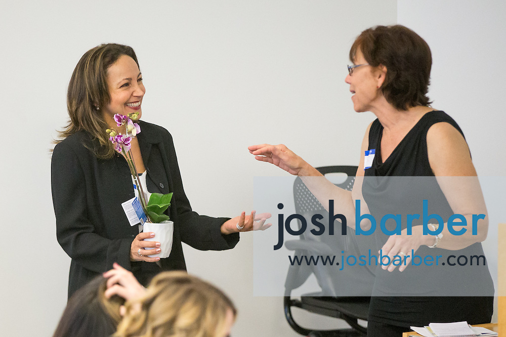 Goli Sadri, Academic Director, Joanna Moore, Program Director during the first event of the Mihaylo College of Business and Economics Women's Leadership Program at California State University Fullerton  on Friday, Nov. 6, 2015 in Fullerton, California.