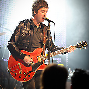 WASHINGTON, DC - March 29th, 2012 - Former Oasis lead guitarist/songwriter Noel Gallagher performs at the Warner Theater in Washington, D.C. with his new act, Noel Gallagher's High Flying Birds.  Gallagher played a career-spanning, 20 song set featuring new songs  and old favorites from Oasis.(Photo by Kyle Gustafson/For The Washington Post)
