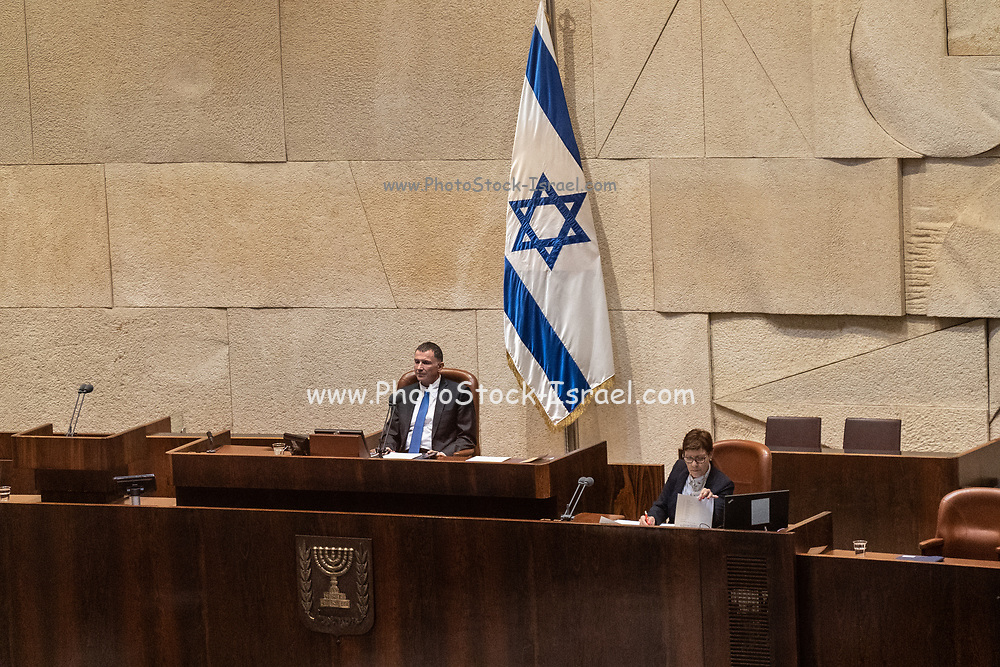 Yuli Edelstein, Speaker of the Knesset from 2013 until his resignation on 25 March 2020. The Knesset unicameral national legislature of Israel