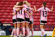 Erin CUTHBERT (Chelsea FCW (ENG)) celebrates with her team mates during the International Friendly match between Scotland Women and Jamaica Women at Hampden Park, Glasgow, United Kingdom on 28 May 2019.