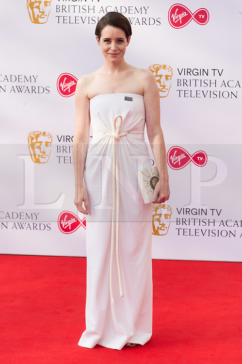 © Licensed to London News Pictures. 13/05/2018. London, UK. CLAIRE FOY arrives for the Virgin TV British Academy (BAFTA) Television Awards. Photo credit: Ray Tang/LNP