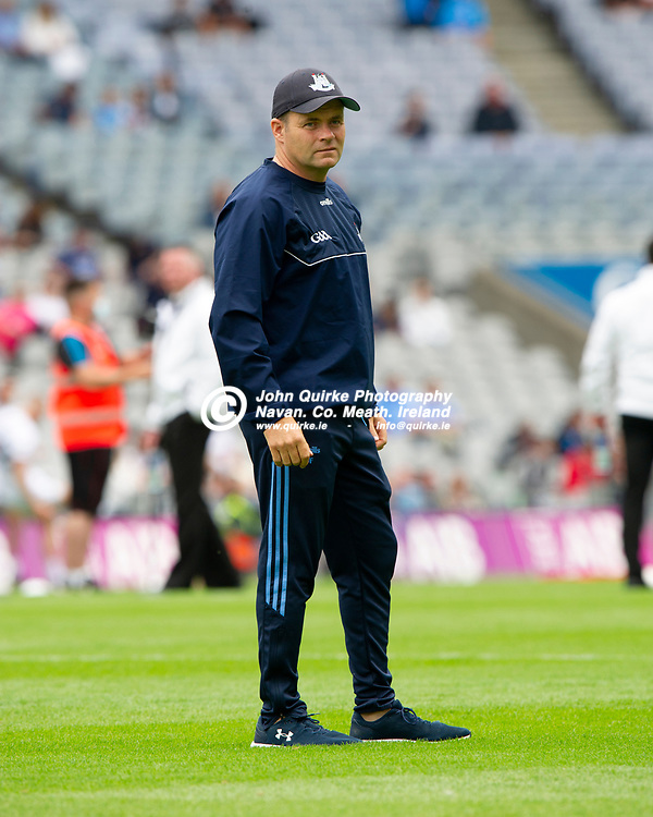 01–08-21.<br /> Dublin v Kildare - Leinster Senior Football Championship Final at Croke Park.<br /> Dessie Farrell, Dublin Manager.<br /> Photo: John Quirke / www.quirke.ie<br /> ©John Quirke Photography, 16 Proudstown Road, Navan. Co. Meath. (info@quirke.ie / 046-9028461 / 087-2579454).