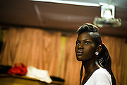 Nana Yaa Adadewa Addo, 24, during a rehearsal in Ghana's capital Accra on Thursday May 21, 2009. Nana Yaa is one of several Ghanaian girls who auditioned for the upcoming television show West Africa's Next Top Model, the latest incarnation of Tyra Banks' America's Next Top Model.
