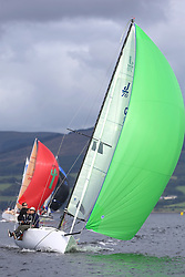 Peelport Clydeport Largs Regatta Week 2013 <br /> <br /> GBR117, Mojo, J70, Donald Syme, FYC<br /> <br /> Largs Sailing Club, Largs Yacht Haven, Scottish Sailing Institute