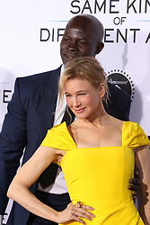 """Djimon Hounsou, Renee Zellweger at the Paramount Pictures And Pure Flix Entertainment's """"Same Kind Of Different As Me"""" Premiere held at the Westwood Village Theatre on October 12, 2017 in Westwood, California, USA (Photo by Art Garcia/Sipa USA)"""