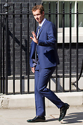 © Licensed to London News Pictures. 08/07/2013. London, UK. Fresh from yesterday's win on Centre Court at Wimbledon British champion Andrew Murray arrives at Downing Street in London today (08/07/2013) to meet the British Prime Minister David Cameron. Photo credit: Matt Cetti-Roberts/LNP