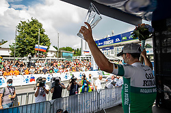 Stage winner Jon ABERASTURI IZAGA of CAJA RURAL-SEGUROS RGA celebrates at trophy ceremony after the 3rd Stage of 27th Tour of Slovenia 2021 cycling race between Brezice and Krsko (165,8 km), on June 11, 2021 in Slovenia. Photo by Vid Ponikvar / Sportida