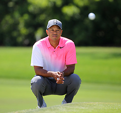 March 16, 2018 - Orlando, FL, USA - Tiger Woods watches Jason Day's ball land on the green, on hole #1 during second day of the Arnold Palmer Invitational at Bay Hill Friday, March 16, 2018 in Orlando, Fla. (Credit Image: © Joe Burbank/TNS via ZUMA Wire)
