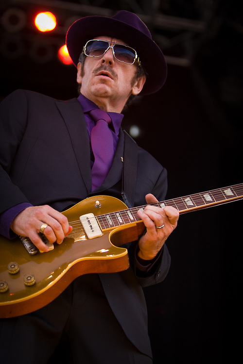Singer/guitarist ELVIS COSTELLO performs at the Jazz Aspen Snowmass Labor Day Festival in Snowmass Town Park.