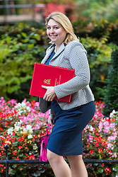 London, October 17 2017. Secretary of State for Culture, Media and Sport Karen Bradley attends the UK cabinet meeting at Downing Street. © Paul Davey