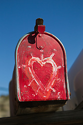 hand painted heart on a mailbox