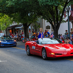Lititz, PA / USA - July 3, 2017:   Special cars on parade in a small American town in observance of the 4th of July Independence Day celebration.