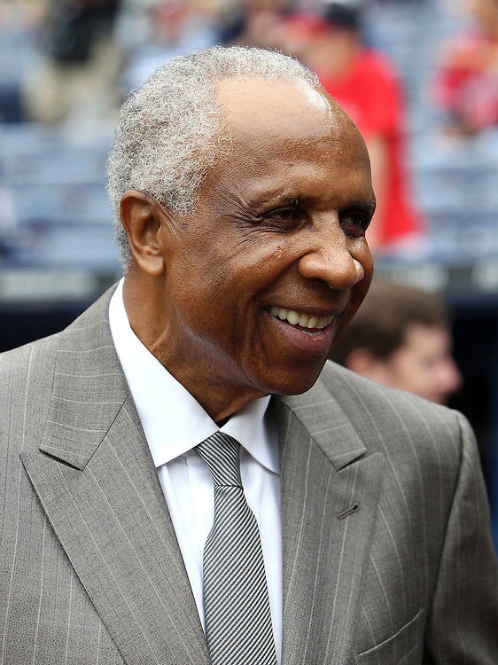 ATLANTA - MAY 15:  Hall of Famer Frank Robinson attends the MLB Civil Rights Game between the Philadelphia Phillies and the Atlanta Braves on Sunday, May 15, 2011 at Turner Field in Atlanta, Georgia.  (Photo by Mike Zarrilli/MLB Photos via Getty Images)