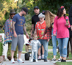 Trick or Treat! Adam Levine and Behati Prinsloo take their kids out for Halloween in Talouca Lake, CA. 31 Oct 2018 Pictured: Adam Levine, Behati Prinsloo. Photo credit: MEGA TheMegaAgency.com +1 888 505 6342