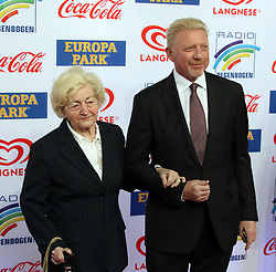 12.04.2019, Europa Park, Rust, GER, Radio Regenbogen Award 2019, im Bild Mutter Elvira Becker mit Sohn Boris Becker (Ex-Tennisspieler) // during the Radio Rainbow Award at the Europa Park in Rust, Germany on 2019/04/12. EXPA Pictures © 2019, PhotoCredit: EXPA/ Eibner-Pressefoto/ Joachim Hahne<br /> <br /> *****ATTENTION - OUT of GER*****