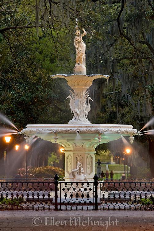 Forsyth Park Fountain in Savannah Georgia