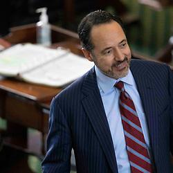 Texas Senate action on Monday, May 17, 2021 showing Sen. Jose Menendez, D-San Antonio
