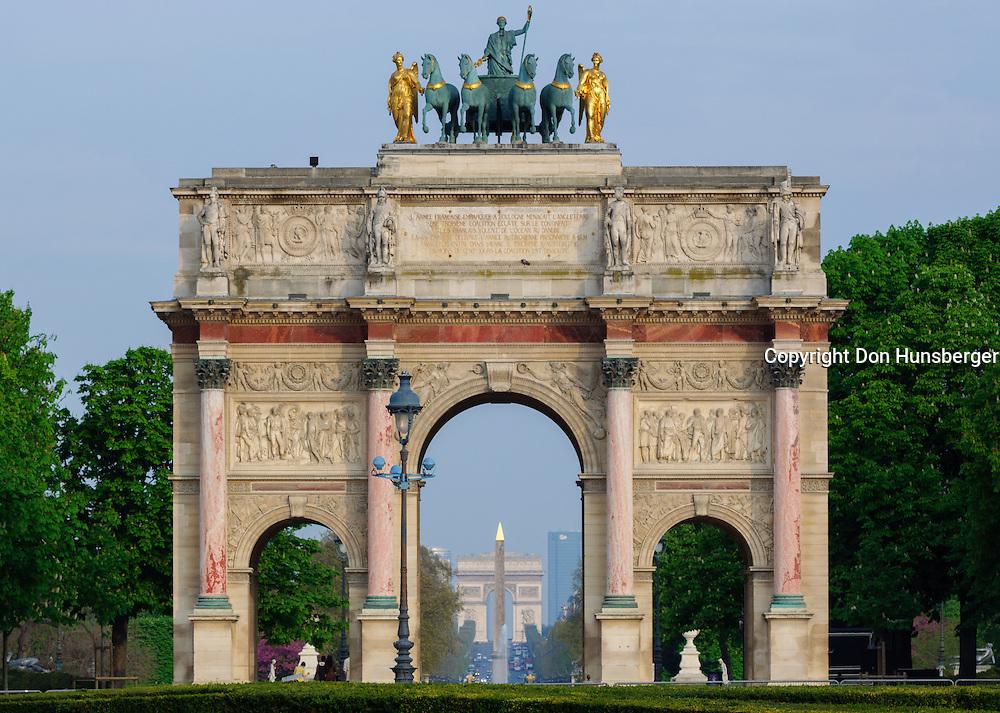 Arc de Triomphe, Arc de Triomphe du Carrousel, Louvre Museum, Obelisk of Luxor, Paris, Paris Champs-Élysées