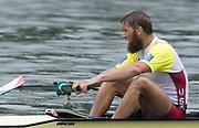 Lucerne, SWITZERLAND.<br /> <br /> USA M4-, Seth WEIL, Finals day. 2016 FISA WCII. Lake Rotsee<br /> <br /> Sunday  29/05/2016<br /> <br /> [Mandatory Credit; Peter SPURRIER/Intersport-images]