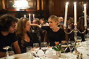 CAMILLA AL FAYAD; EUGENIE NIARCHOS, Opening of Morris Lewis: Cyprien Gaillard. From Wings to Fins, Sprüth Magers London Grafton St. London. Afterwards dinner at Simpson's-in-the-Strand hosted by Monika Spruth and Philomene Magers.