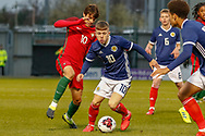 Kai Kennedy (Rangers FC) on the ball during the U17 European Championships match between Portugal and Scotland at Simple Digital Arena, Paisley, Scotland on 20 March 2019.