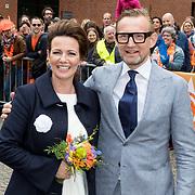 NLD/Groningen/20180427 - Koningsdag Groningen 2018, Bernhard en partner Annette Sekreve