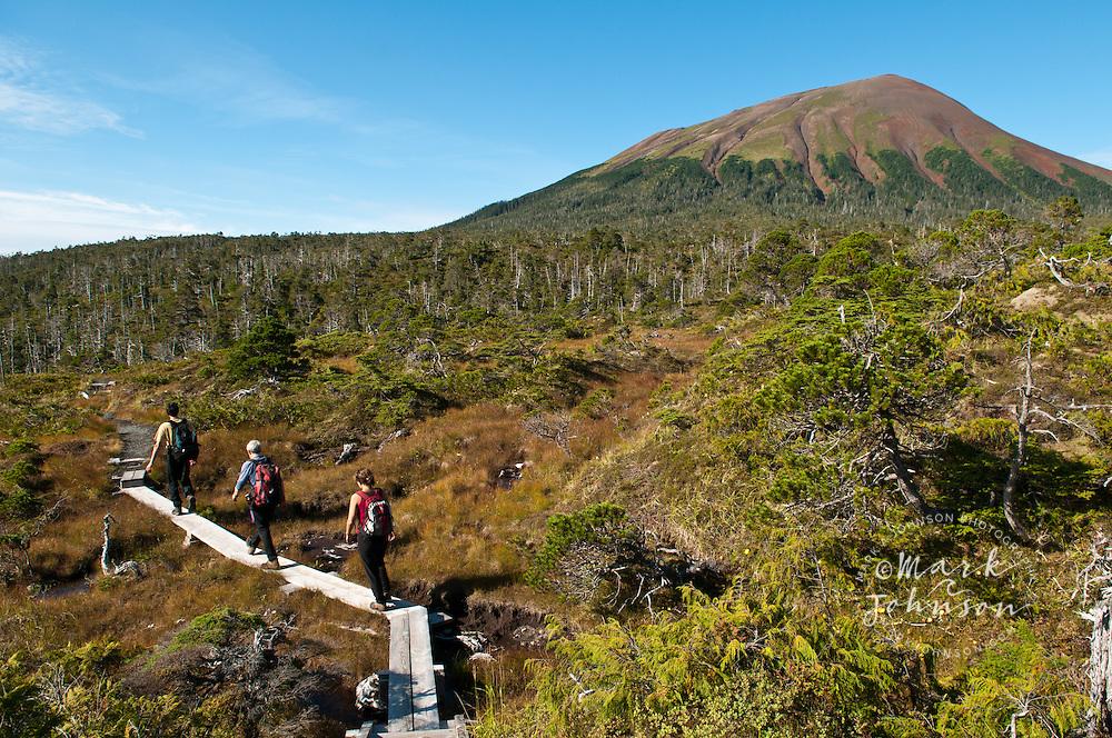 Hiking to the summit of Mt. Edgecumbe, Kruzof Island, Southeast Alaska