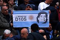 Striscione dei Tifosi del Napoli, banner fans, supporters per Diego Maradona<br /> Napoli 02-04-2017  Stadio San Paolo <br /> Football Campionato Serie A 2016/2017 <br /> Napoli - Juventus<br /> Foto Cesare Purini / Insidefoto