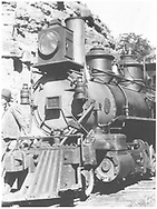 """RGS 2-8-0 #2 ready for duty.<br /> RGS  Old Placerville, CO  post 1909-1910<br /> In book """"Southern, The: A Narrow Gauge Odyssey"""" page 97<br /> Also in """"RGS Story Vol. XII"""", p. 16."""