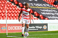 James Coppinger of Doncaster Rovers (26) puts the ball down to take a corner kick during the EFL Sky Bet League 1 match between Doncaster Rovers and Gillingham at the Keepmoat Stadium, Doncaster, England on 20 October 2018.