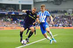 15 October 2017 -  Premier League - Brighton and Hove Albion v Everton - Solly March of Brighton and Hove Albion in action with Nikola Vlasic of Everton - Photo: Marc Atkins/Offside