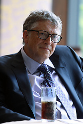 August 10, 2017 - Dar es Salaam, Tanzania - BILL GATES, American philanthropist, listens to a question during an interview by OMAR BEN YEDDER, Group Publisher and Managing Director for IC Publications. . Visiting Tanzania, Gates discussed his  vision for Africa's development and announced a 5 million investment that will digitize Tanzania's health information systems to improve health data in the country one of a number of grants his foundation will make in Tanzania. (Credit Image: © Ric Francis via ZUMA Wire)