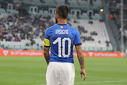 June 4, 2018 - Turin, Piedmont, Italy - Lorenzo Insigne (Italy) during the friendly football match between Italy and Holland at Allianz Stadium on June 04, 2018 in Turin, Italy. Final result: 1-1  (Credit Image: © Massimiliano Ferraro/NurPhoto via ZUMA Press)