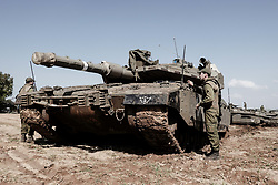 March 26, 2019 - Israel - Israel Defense Forces deploy manpower and resources in the area surrounding the Gaza Strip in preparation for a major military operation. Hostilities between Israel and the Hamas controlled Gaza Strip have recently escalated as a result of a Hamas rocket hitting and destroying a home in the agricultural village of Mishmeret in central Israel injuring a family of seven, Israel Air Force retaliation hitting targets in the Gaza Strip and some 60 rockets fired into Israel's communities along the Gaza Strip. (Credit Image: © Nir Alon/ZUMA Wire)