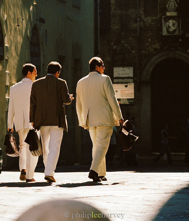 Businessmen in Siena, Tuscany, Italy