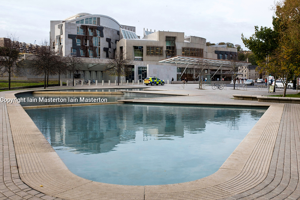 View of the Scottish Parliament Building at Holyrood in Edinburgh, Scotland, United Kingdom.