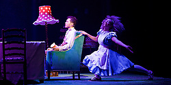 The Mad Hatter's Tea Party <br /> by Zoo Nation<br /> directed by Kate Prince<br /> presented by Zoo Nation, The Roundhouse & The Royal Opera House<br /> at The Roundhouse, London, Great Britain <br /> rehearsal <br /> 29th December 2016 <br /> <br /> Tommy Franzen as Ernest <br /> <br /> <br /> Kayla Lomas-Kirton as Alice <br /> <br /> <br /> Photograph by Elliott Franks <br /> Image licensed to Elliott Franks Photography Services